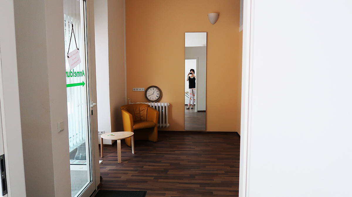 Anmeldung im Therapiezentrum am Schloss
