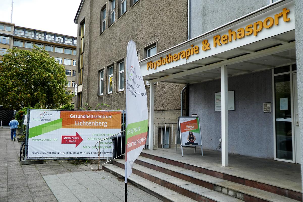 Gesundheitszentrum Lichtenberg Eingangsbereich